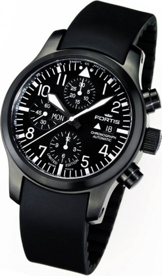 Fortis B-42 Flieger Black Chronograph